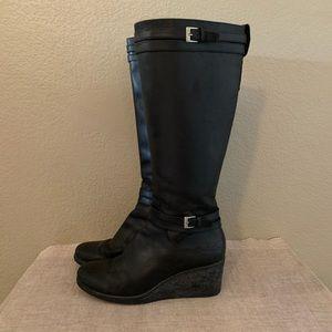 UGG leather wedge heel waterproof boots winter 9